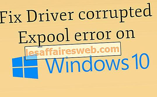 Windows 10에서 드라이버 손상된 Expool 오류