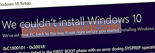 Correction de l'échec de l'installation lors de la première erreur de la phase de démarrage