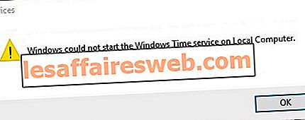 Windows 시간 서비스가 작동하지 않는 문제 수정