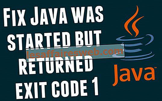 修正Javaが開始されたが終了コード1を返した