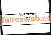 Comment réparer l'erreur d'application 523