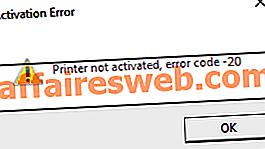 So beheben Sie den nicht aktivierten Drucker Fehlercode 20