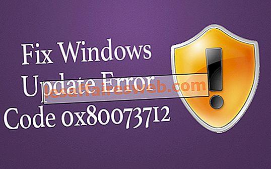 Correggi il codice di errore di Windows Update 0x80073712