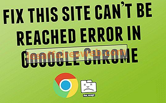 Situs ini tidak dapat dijangkau kesalahan di Google Chrome
