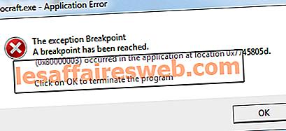 Comment réparer l'erreur 0x80000003